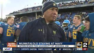 Niumatalolo staying at Navy - Video