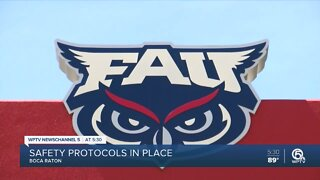 Florida Atlantic University begins fall semester with limited number of students on campus