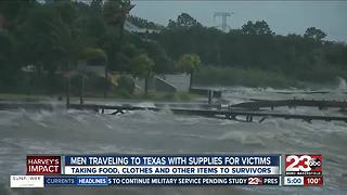 Men traveling to Texas with supplies for victims - Video