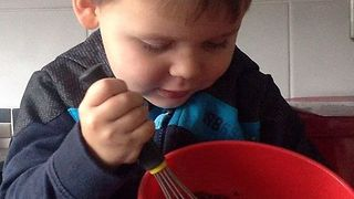 Cheeky Toddler Licks the Whisk - Video