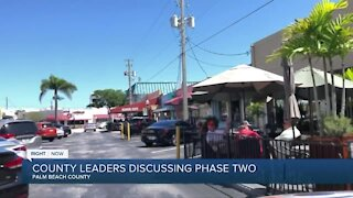 Palm Beach County commissioners discuss entering Phase Two of Florida's reopening plan