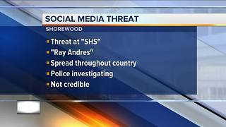Shorewood High School on alert after social media threat - Video