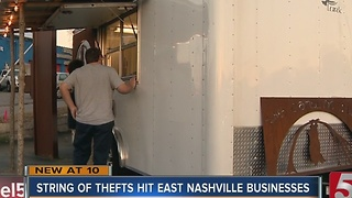 Businesses Report String Of Thefts In East Nashville - Video
