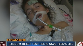 Random heart test helps save teen's life - Video