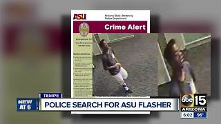 Police searching for suspect that exposed himself to women on ASU's Tempe campus - Video