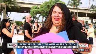 Hundreds protest water crisis in downtown 'Death March'