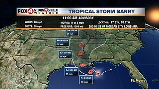 Tropical Storm Barry forms in the northern Gulf