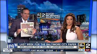 Baltimore City Paper publishes final issue - Video