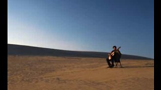 'Rey's Theme' from Star Wars played in the desert