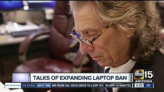 Talks of a potential laptop ban on flights resurfaces after terror attacks - Video