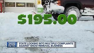 State looking into multiple complaints against snow removal business - Video