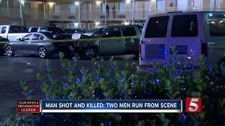 2 Suspects Sought After Fatal Shooting, Crash