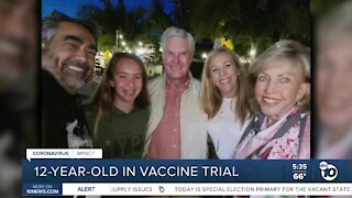Carlsbad 12-year-old joins COVID-19 vaccine trial