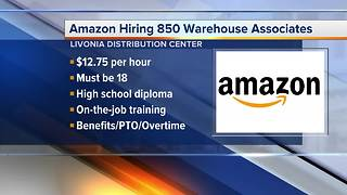 Amazon is hiring 850 Warehouse Associates in metro Detroit - Video