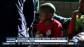 Colorado Task Force helps Harvey victims evacuate in Beaumont, Texas - Video