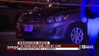 Child hit by car while crossing Boulder Highway - Video