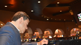 Station Casinos' Chuck Esposito talks Sunset Station Race & Sports Book connecting to local gamblers - Video