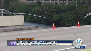 U.S. 1 bridge in North Palm Beach partially collapses - Video