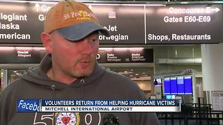 Volunteers Return From Helping Hurricane Victims - Video
