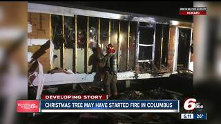 Christmas tree catches fire, destroys Columbus man's home on Christmas Eve - Video