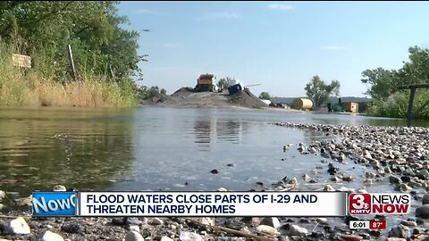 Floodwaters Close Parts of I-29 and Threaten Homes