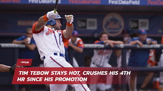 Tim Tebow Stays Hot, Crushes His 4th Hr Since His Promotion - Video