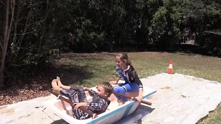 Winter Olympics recreated at home - in Australian summer - Video