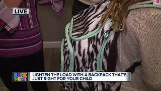 Lighten the load with a backpack that's just right for your child - Video