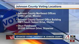 Advanced voting underway in Johnson County - Video