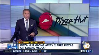 2 free pizzas from Pizza Hut? - Video