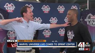 Stunt lessons from the cast of Marvel Universe Live!