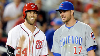 Bryce Harper TEASES Cubs Fans with Possibility of Joining Team - Video