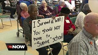 Senior citizens in Beachwood rally against gun violence