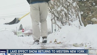 Cattaraugus County residents unfazed by first dusting of lake effect snow - Video