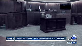 Woman refuses testifying for religious beliefs - Video