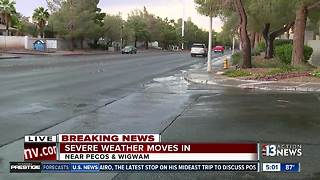 Storm causes flooding, tree fire in Las Vegas - Video