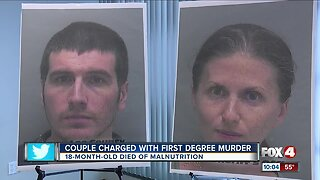 Cape Coral parents charged with murder in toddler's malnutrition death