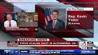 Rep. Kevin Yoder speaks about shooting at congressional baseball practice