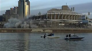 Sports Vault Cinergy Field implosion
