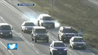 Driver nearly hits squad car in Waukesha County - Video