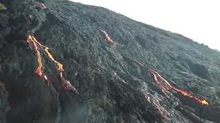 Drone Footage Shows Lava from Hawaii's Kilauea Volcano - Video