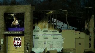 Taco Bell fans hold vigil after restaurant catches on fire