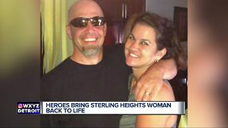 Sterling Heights woman brought back to life thanks to local heroes - Video