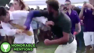 LSU Fan KNOCKED OUT Cold by Guy with Broken Arm - HM - Video