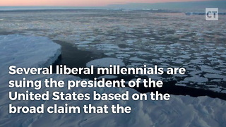 Teens Sue Trump For Global Warming - Video