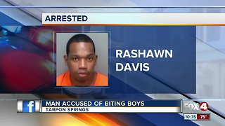 Man accused of biting boys