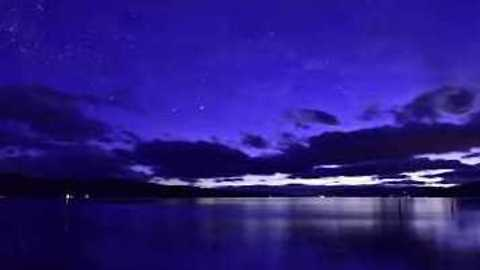 Southern Lights Seen Shining Though Overcast in Tasmania Timelapse