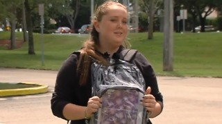 Stoneman Douglas students back from Spring Break, wearing clear backpacks - Video