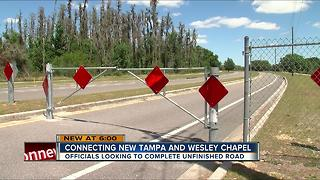 Unfinished road between New Tampa and Wesley Chapel causing traffic headaches, safety concerns - Video