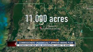 Hernando Commissioners vote yes to expand mining, against Planning Committee's recommendation - Video